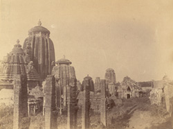 View from the north-east of the right half of the Rajalinga Temple, Bhubaneshwar